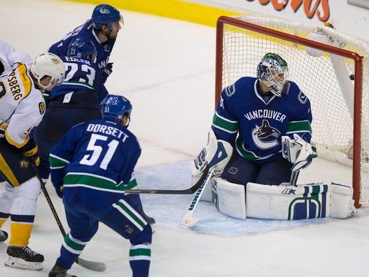Predators Canucks Hockey