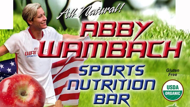 The preliminary label for a new apple-cinnamon flavored bar that'll be distributed locally and is endorsed by Abby Wambach.