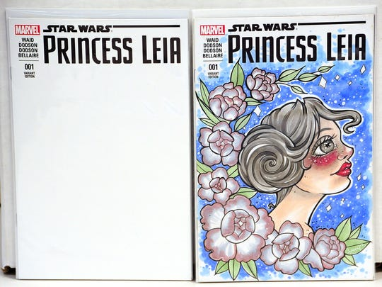 "This ""Star Wars:Princess Leia"" created by artist AnnMare"