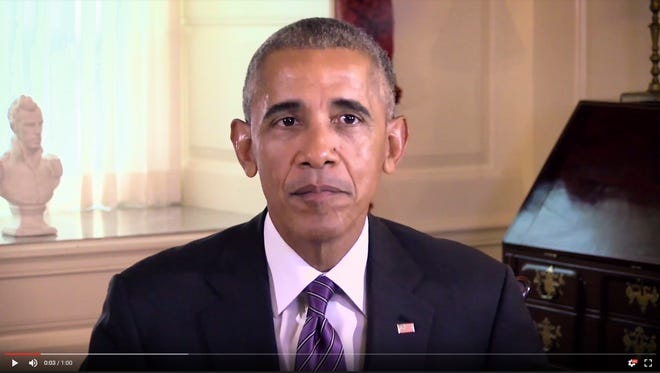 Screen capture from President Obama's endorsement video for Kate Brown.