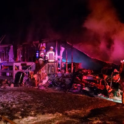 Canton firefighters responded early Wednesday to this