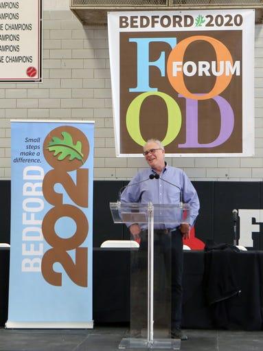 Keynote speaker Mark Bittman delivers remarks during