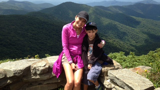 Me and my nephew on a hike this summer.