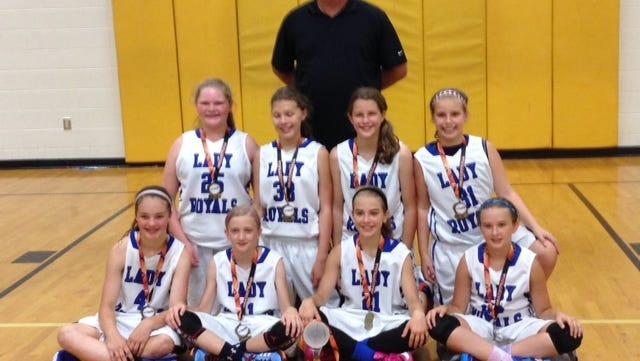 WNC Lady Royals 5th grade basketball team.