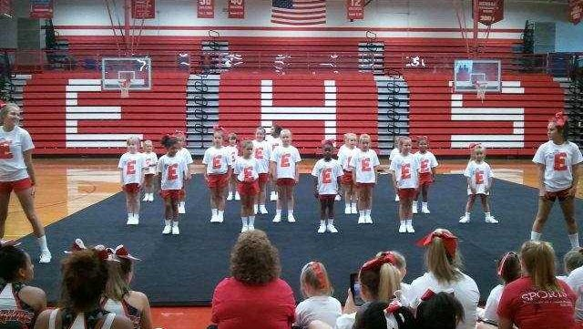 Erwin varsity cheerleaders will host a camp next week at the high school.