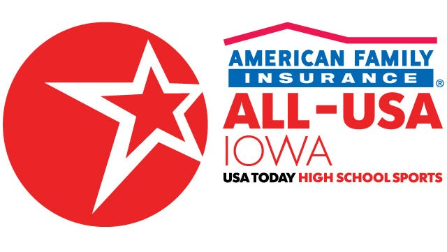 TJ Hockenson of Chariton was voted by fans as the American Family Insurance ALL-USA IOWA Performer of the Week.