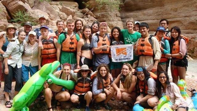 Leading the Way students in the Grand Canyon