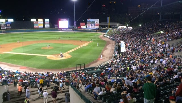 The Red Wings have home games remaining Friday and Saturday and hope for big crowd at Frontier Field like this one Monday night.