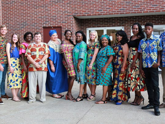 Models provided the audience a glimpse of the colorful fashions of the Congo at the annual Taste of Congo held at West Jackson Baptist Church on July 15, 2017 in Jackson, Tenn.