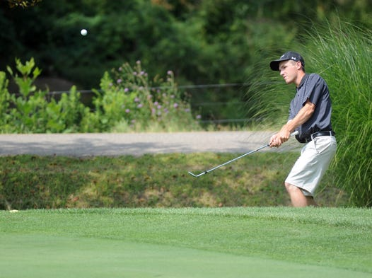 Zack Forker competes in the third round of the ZDGA Amateur at Jaycee Golf Course on Saturday.