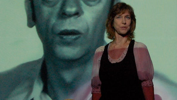 Karen Knotts performs her one-woman play, Tied Up In