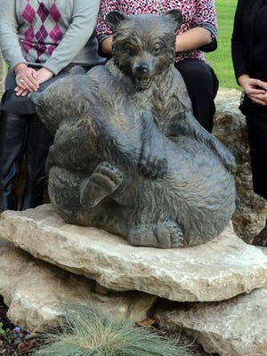 The bronze statue of Ruff and Tuff was stolen from the Franklin College Campus late last week.
