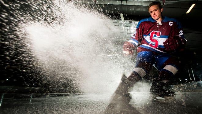 Burlington Free Press 2017 Mr. Hockey, Spaulding senior Denver Heath.