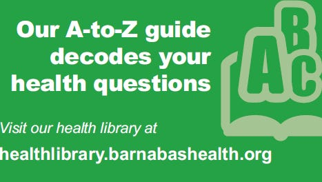 Barnabas Health guide for your questions.