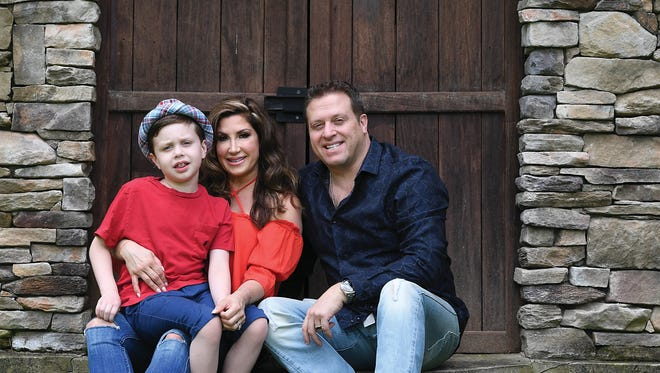 Jacqueline and Chris Laurita with their son Nicholas at their home in Franklin Lakes on Friday, July 7, 2017. Hair by Caitlin Decunzo. Makeup by George Miguel. Wardrobe stylist Melissa Polo Landau