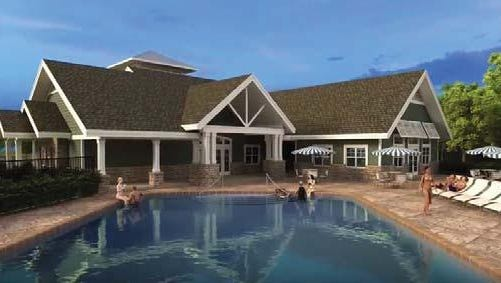 Planned pool area for Willoughby Estates, Delhi Township.