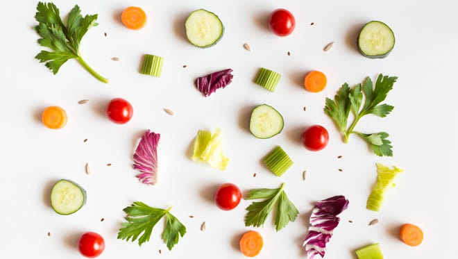 Incorporate leftover Easter carrots into this Asian Cucumber salad.