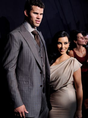 Here's an Aug. 31, 2011 file photo of Kardashian with her second husband, Kris Humphries. They got married in a lavish televised wedding and split up 72 days later.