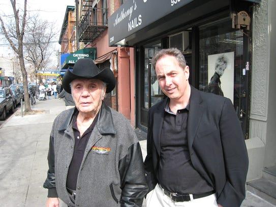 Jake LaMotta, now 95, and Haworth's Joe Allegro scouting