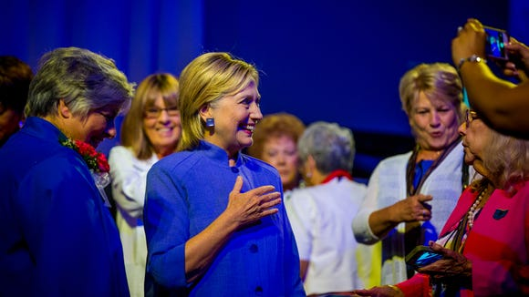 Hillary Clinton, after addressing the American Legion