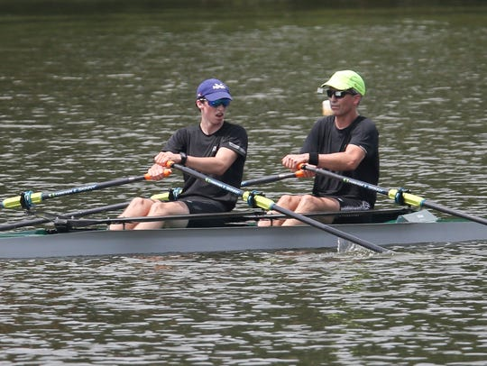 Wilmington Rowing Club's Buzz Fisher and his father,