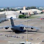 Airmen spread out around the flightline at Incirlik Air Base, Turkey.