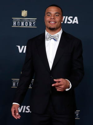 Dallas Cowboys quarterback Dak Prescott was named the NFL's Offensive Rookie of the Year.