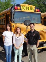 Loveland school bus drivers Lorie Stulz and Rachel