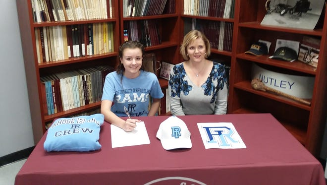 Nutley's Danielle Swan, with her mother Helena, signed a National Letter of Intent to attend Rhode Island.