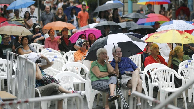 The afternoon of June 20 started with rain during the Xerox Rochester International Jazz Festival.