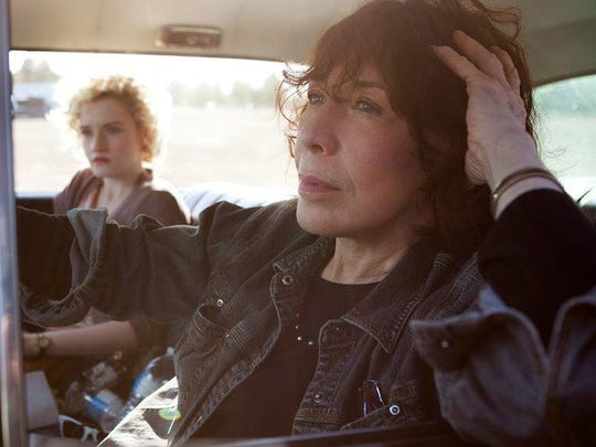 "Lily Tomlin stars in ""Grandma,"" in which Tomlin's character and her granddaughter endure an emotionally charged search for $500 across Los Angeles."