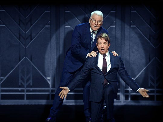 Steve Martin and Martin Short share the laughs in this file photo from a previous show.