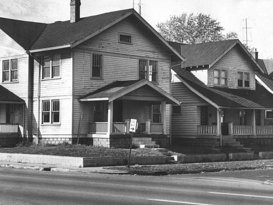 The corner home of Gertrude Baniszewski where Sylvia Likens was tortured and murdered.  Two houses to the right is the home of Richard Hobbs who was convicted of manslaughter in connection with the death of Likens.