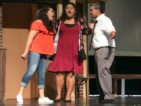 "Cast members rehears ""In The Heights"" on Thursday,"