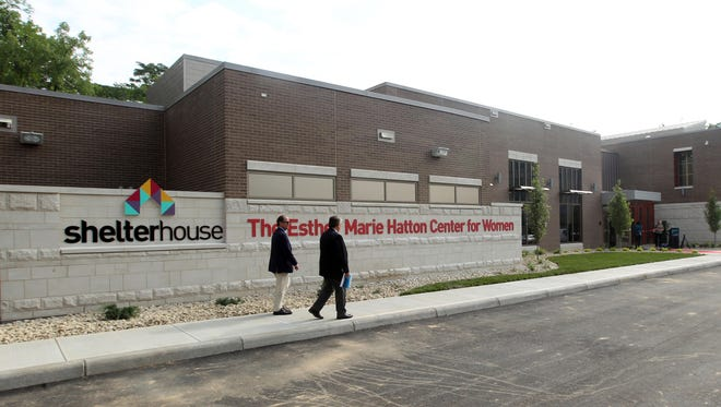 The exterior of the Esther Marie Hatton Center for Women in Mount Auburn, which opened on Friday.