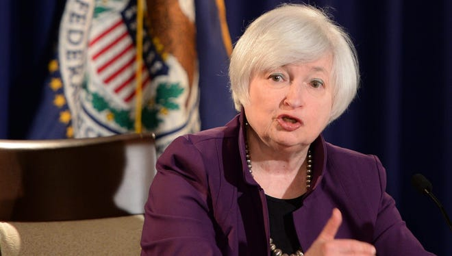 Federal Reserve Chair Janet Yellen responds to a question during a press conference at the Federal Reserve in Washington, DC on June 17, 2015.
