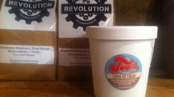 Foam Floaterie created this coffee ice cream using Revolution Coffee Roaster's beans.