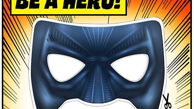 Download a printable hero mask.
