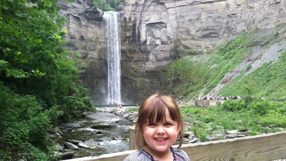 My older daughter loved seeing the falls.