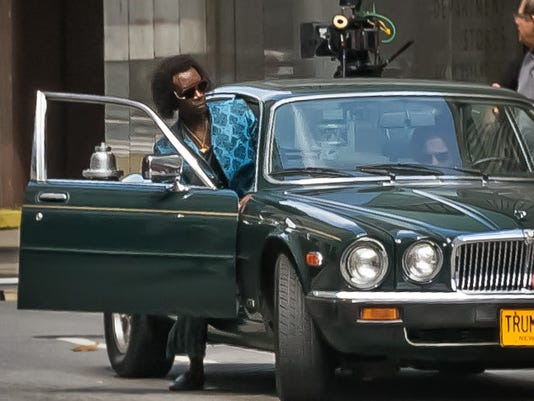 Don Cheadle inot car Miles Ahead 7.7.14
