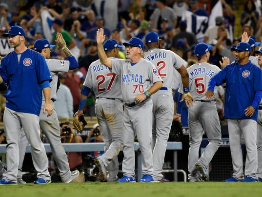 USP MLB: NLCS-CHICAGO CUBS AT LOS ANGELES DODGERS S BBN USA CA