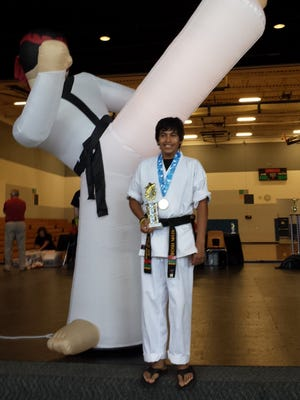 Kevin Fischer (pictured), Ted Karpinski, Aria Rens with Reis Martial Arts Academy in Marshfield competed recently in Lodi at the Capital City Open. Fischer won first place in sparring.  He is a first degree black belt assistant. Rens received second place on her sparing and forms.  She is also an assistant instructor. Karpinski also competed and won fourth place in forms.  He is a fourth degree black belt who is coming back strong after a long recovery from knee surgery.