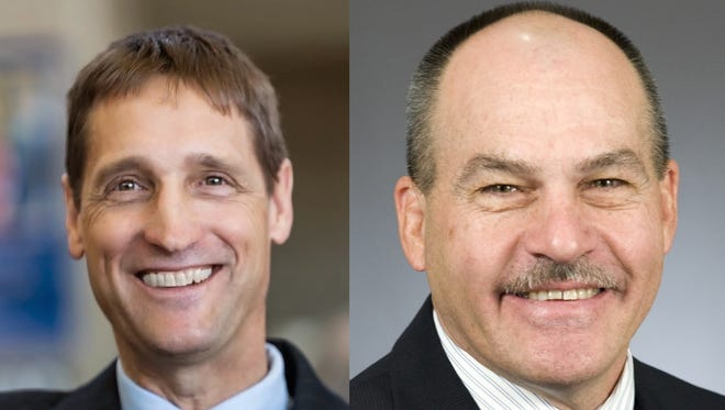 Jim Reed (left) hopes to represent Minnesota's District 13A in the Legislature. Rep. Jeff Howe (left) has held that seat since 2012.