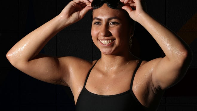 Victoria Garcia of El Paso High is the prep girl's Swimmer of the Year.