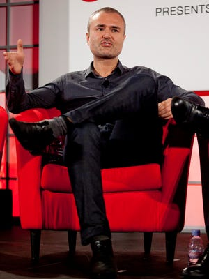 Nick Denton, founder of Gawker Media, speaks during a conference in New York on Sept. 27, 2010.