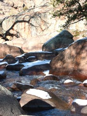 """Rocky River,"" photograph by Ginny Fischer."