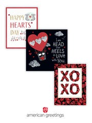 Examples of American Greetings' Valentine's Day cards.