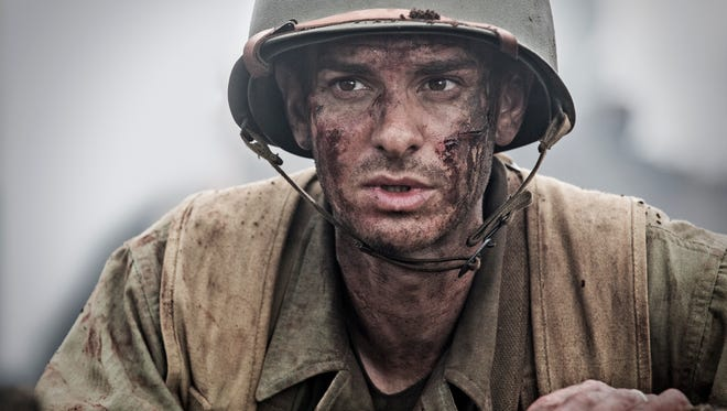 """Andrew Garfield plays the first conscientious objector in U.S. history to be awarded the Medal of Honor in """"Hacksaw Ridge."""" Mel Gibson directs."""