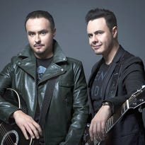 Jose Luis Roma (left) and Raul Roma are brothers who make up the Mexican Latin pop duo Rio Roma.