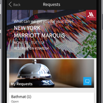 Marriott Hotels has introduce Mobile Request on its app.
